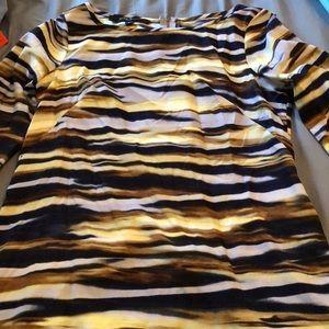 3/4 Length Print Dress